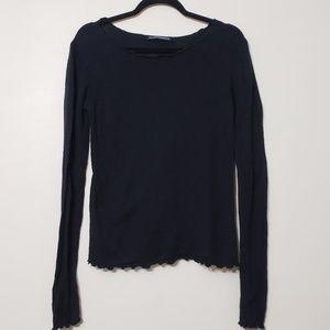 Brandy Meliville Lettuce Hem Sweater, One Size